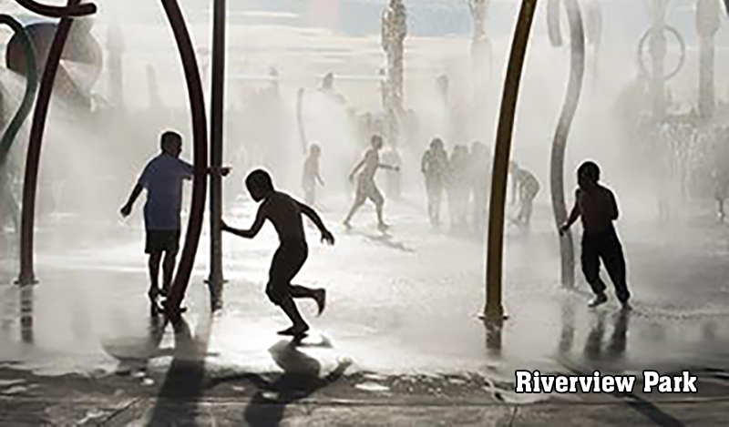 Splashpad at Riverview Park