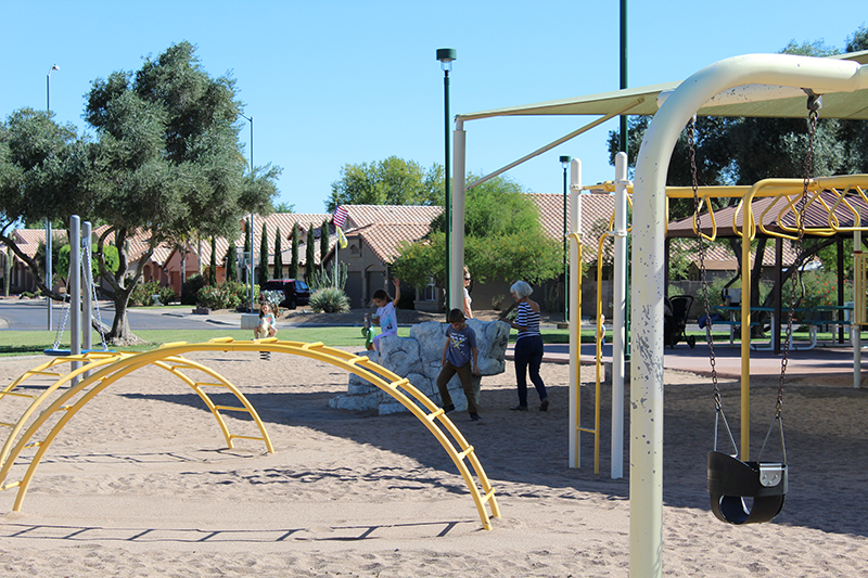 City of Mesa Rancho Del Mar Park Kids on Playground