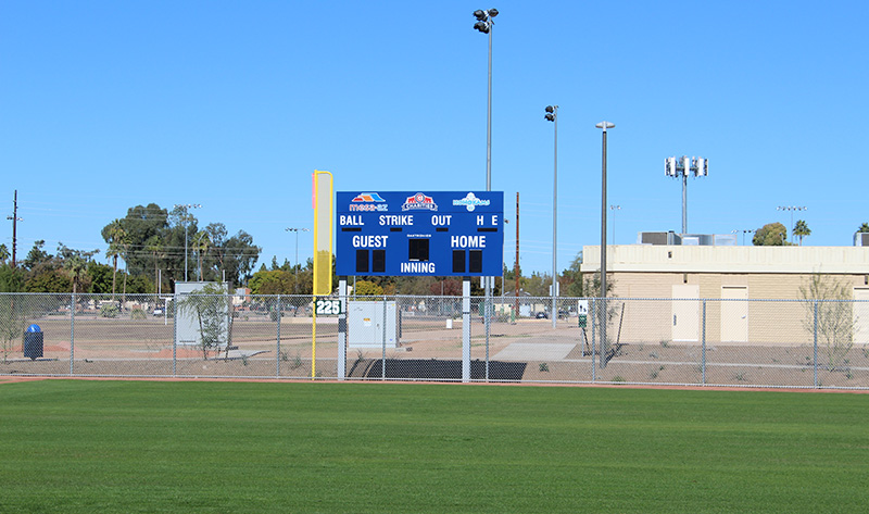 Fiesta Sports Park Field and Sign