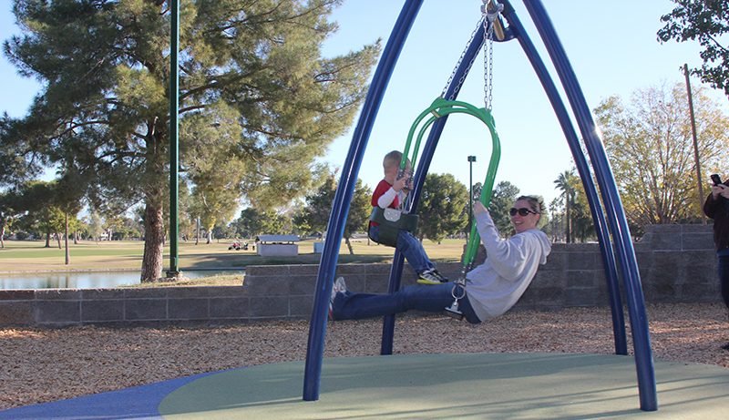Dobson Ranch park Playground Face To Face Swing