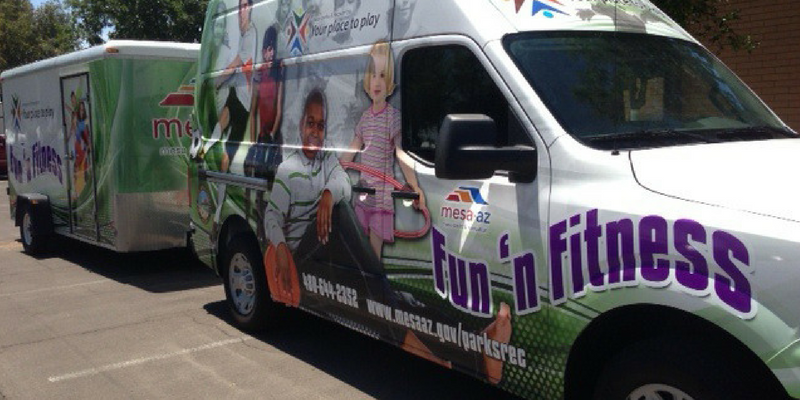 Mesa's fun n fitness van