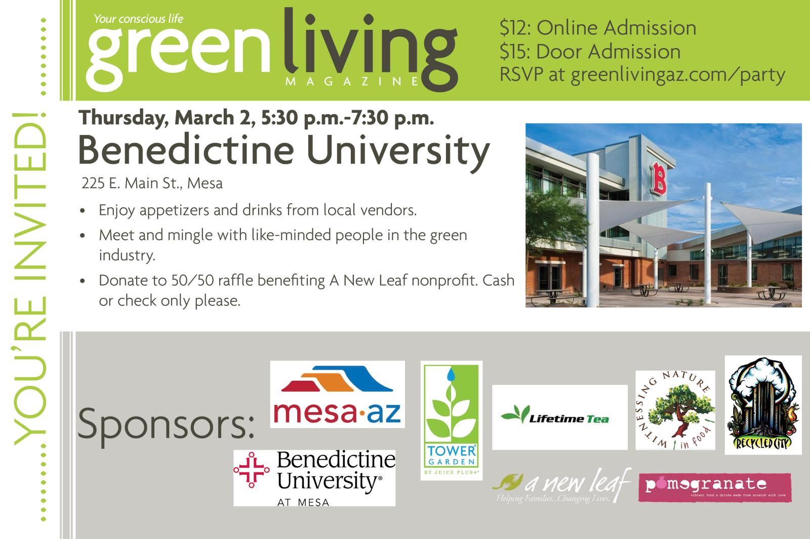 Green Living Magazine Launch Party Invite