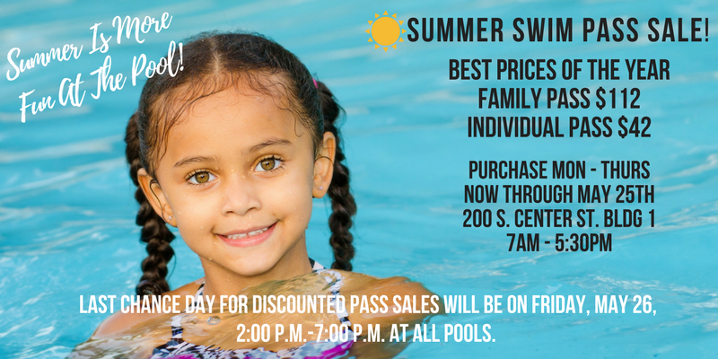 Summer Swim Pass Sale