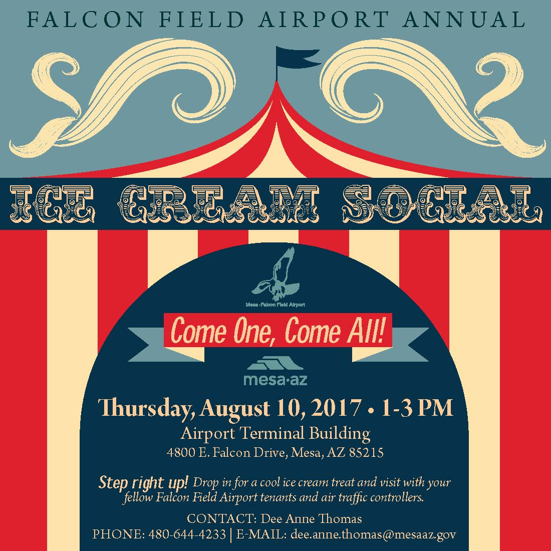 Airport Ice Cream Social Events Tenants Pilots Aviation