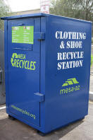 Picture of textile recycling bin
