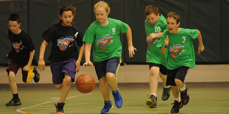 Mesa Youth Sports Kids Playing Basketball