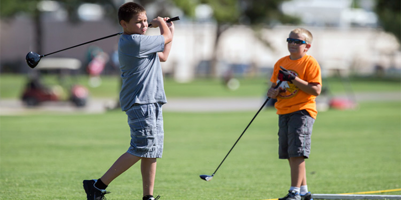 Mesa Youth Sports Kids Playing Golf