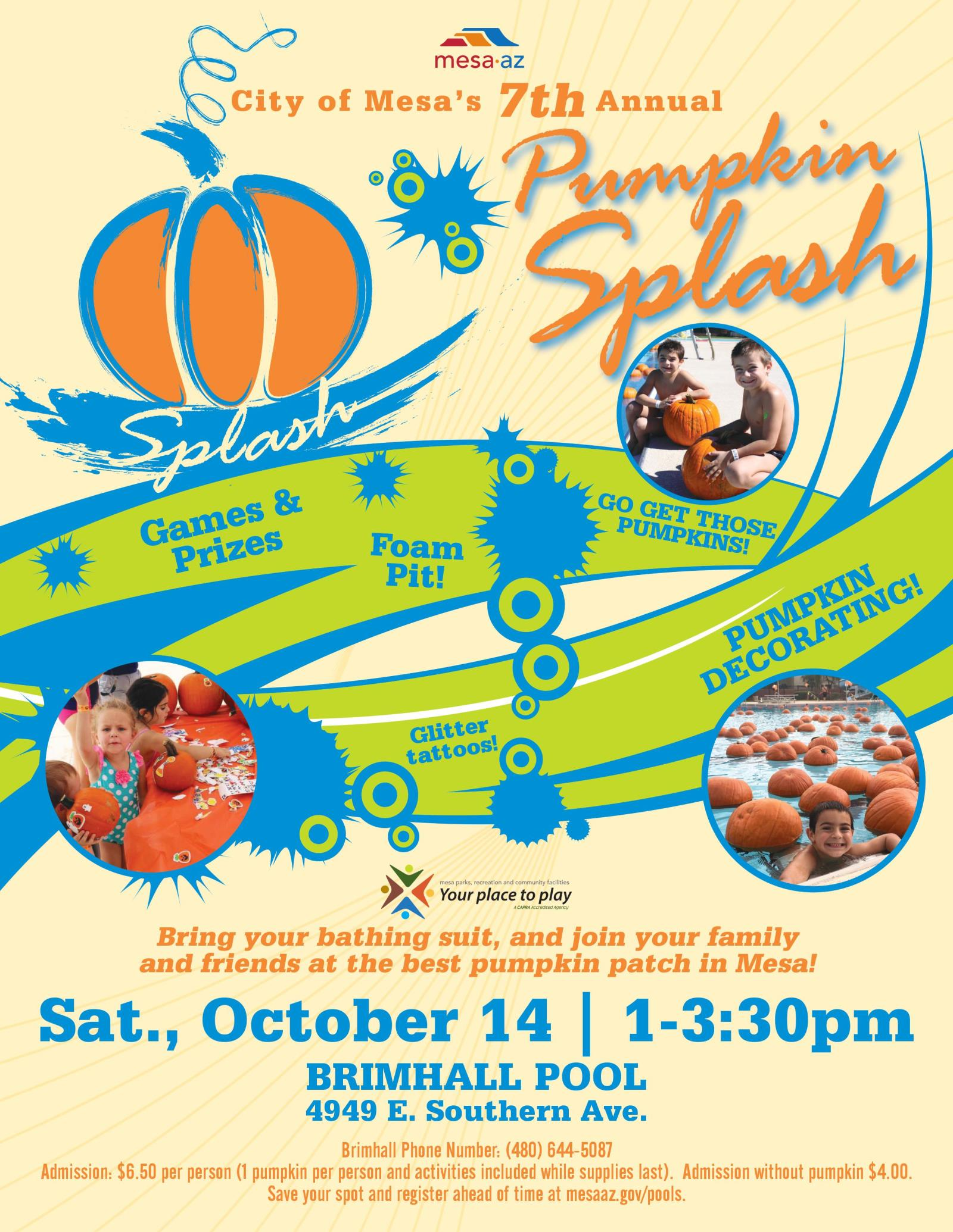 Pumpkin Splash 2017 Brimhall Pool City of Mesa