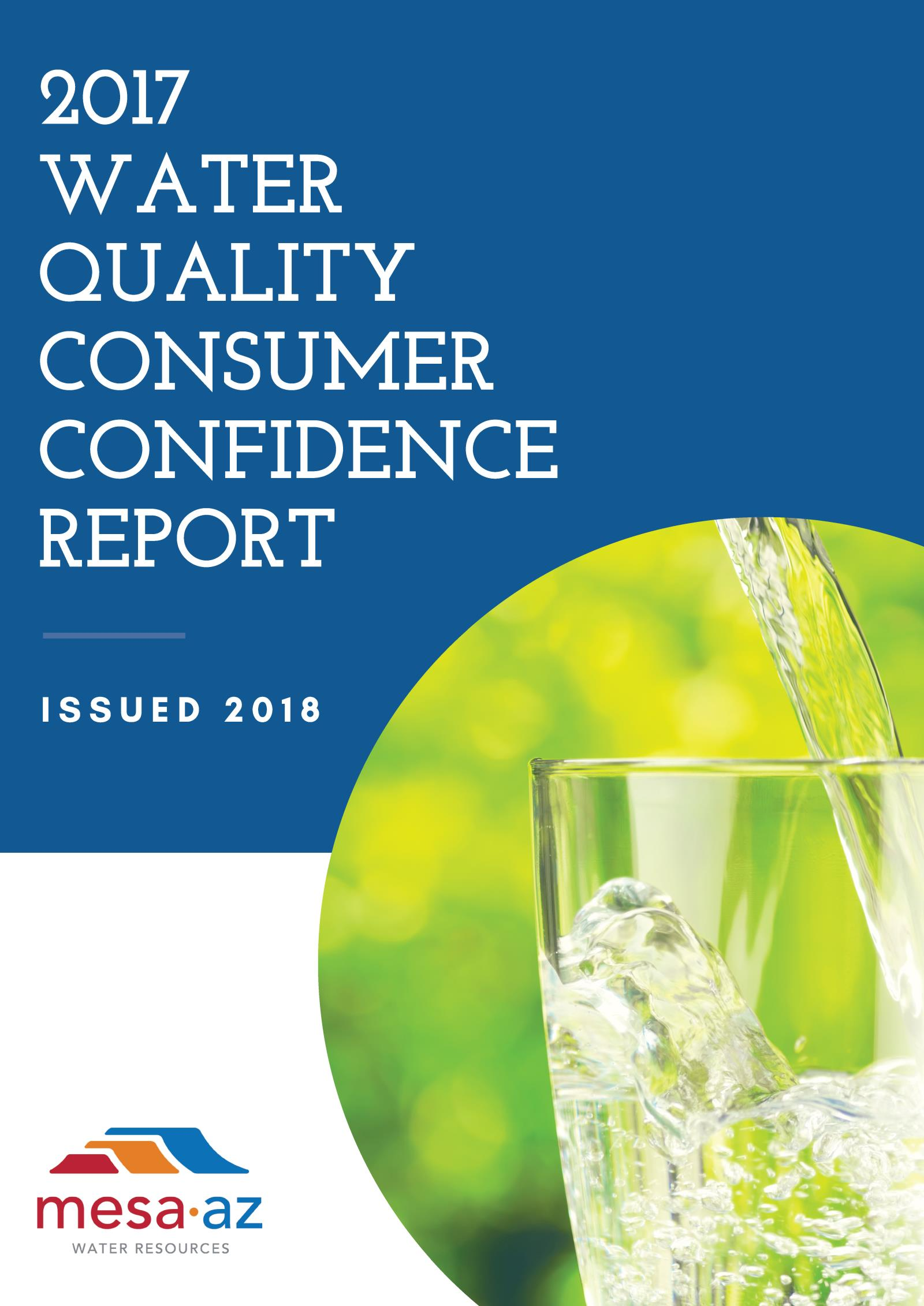 2017 Consumer Confidence Report Cover