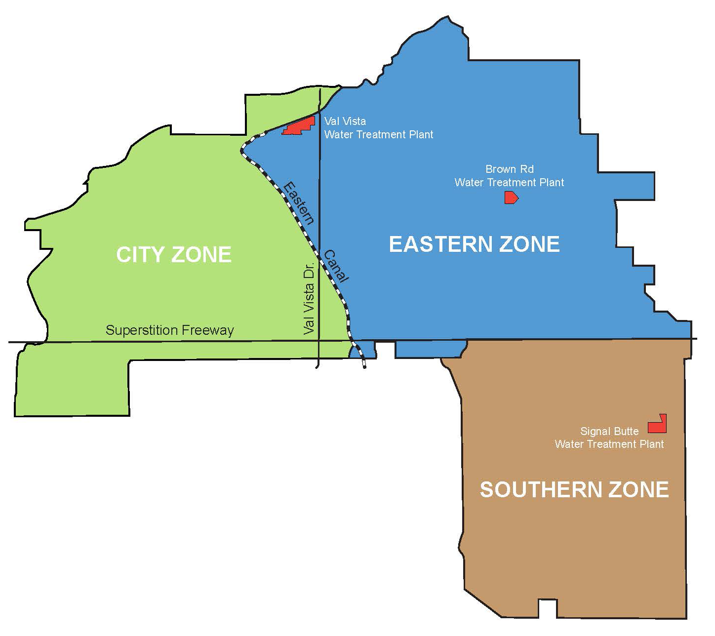 Water Service Areas
