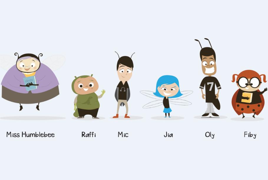 Miss Humblebee's Academy characters