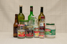 Picture of recyclable glass bottles