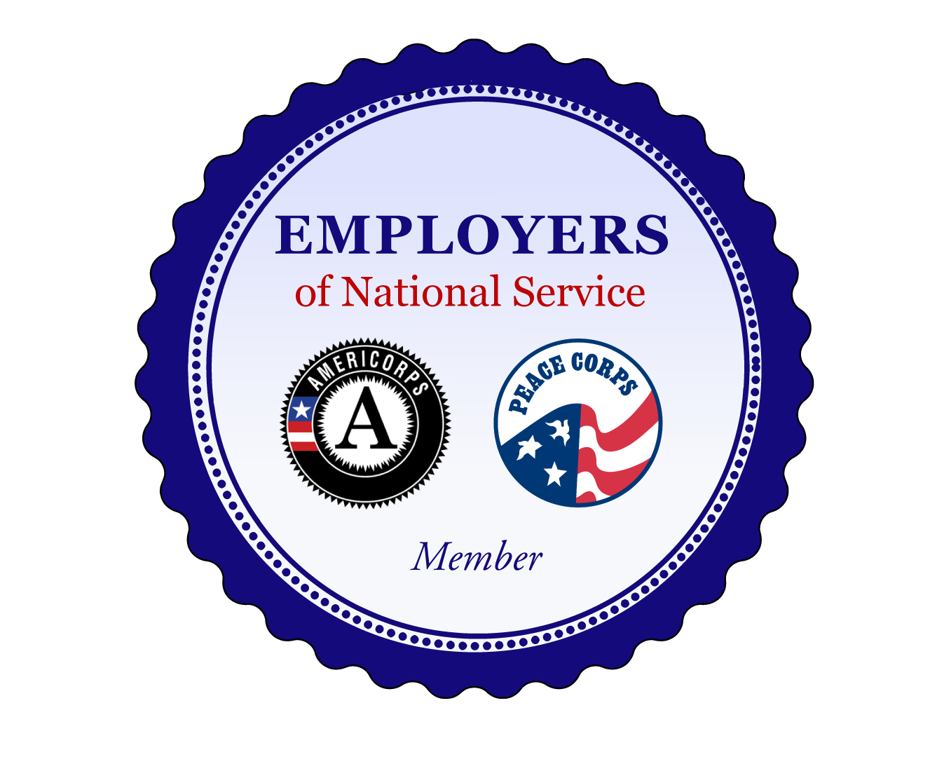 Employer of National Service Logo