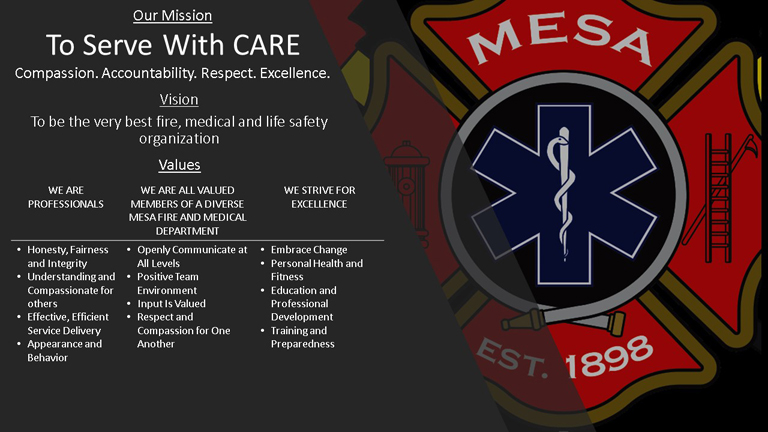 Mesa Fire And Medical Department Was Elished Organized In 1898 It Has Grown To Twenty Stations That House Four Engines Five Ladders