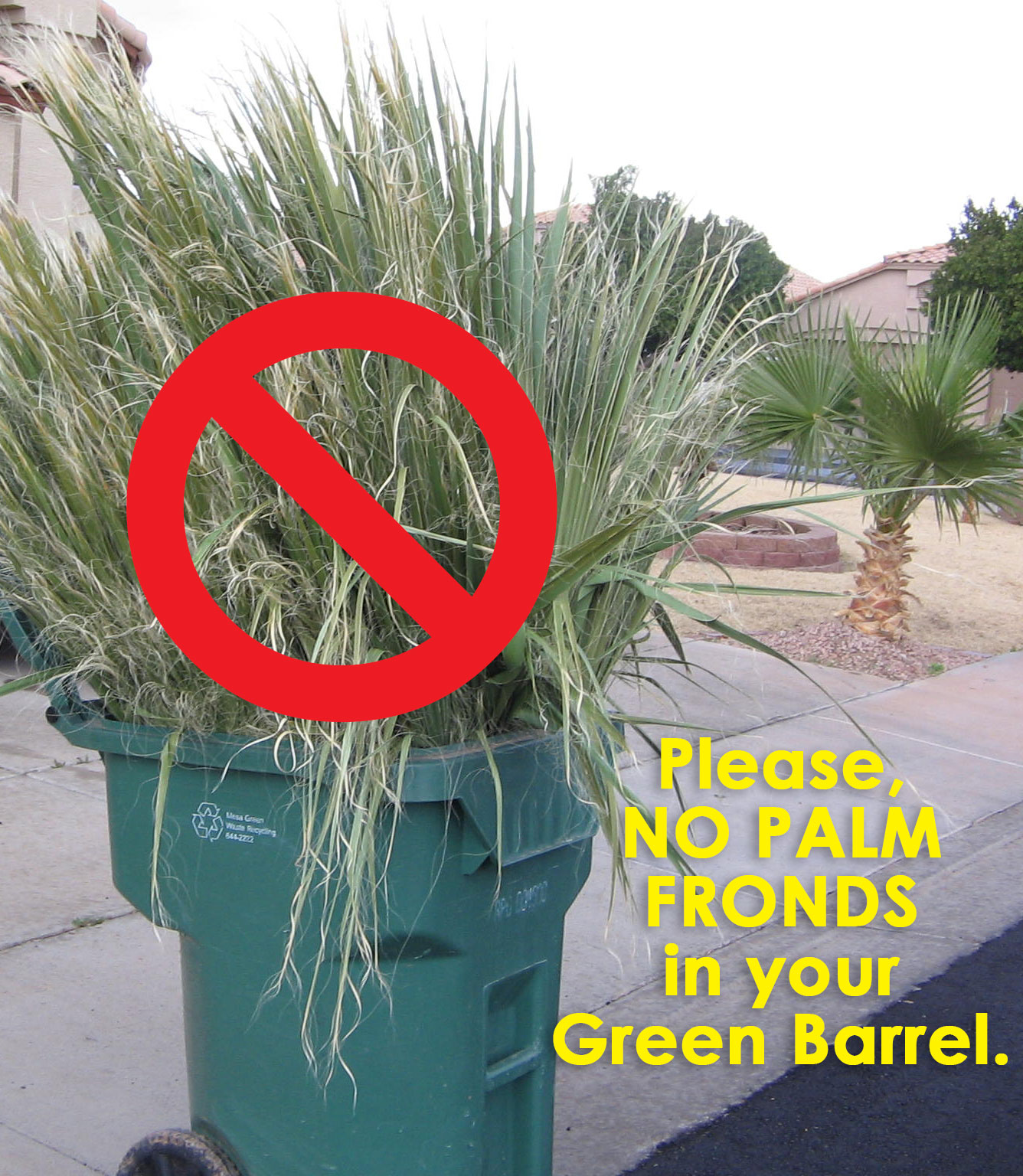 PalmFrondsInGreenBarrel_ProhibitSign