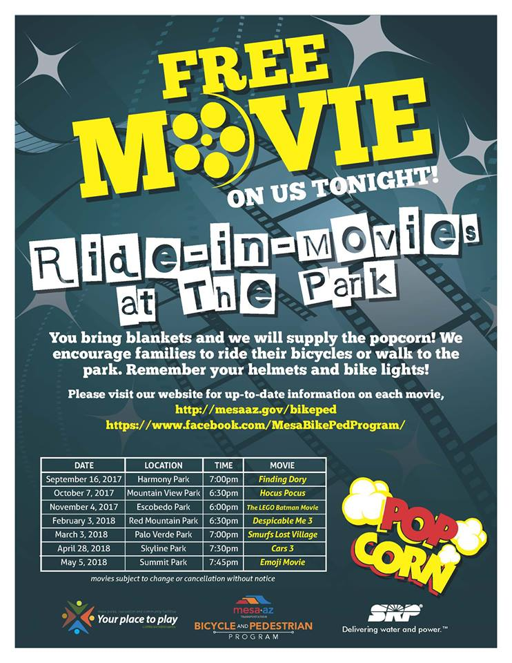 Mesa Ride In Movies At The Park 2017-18