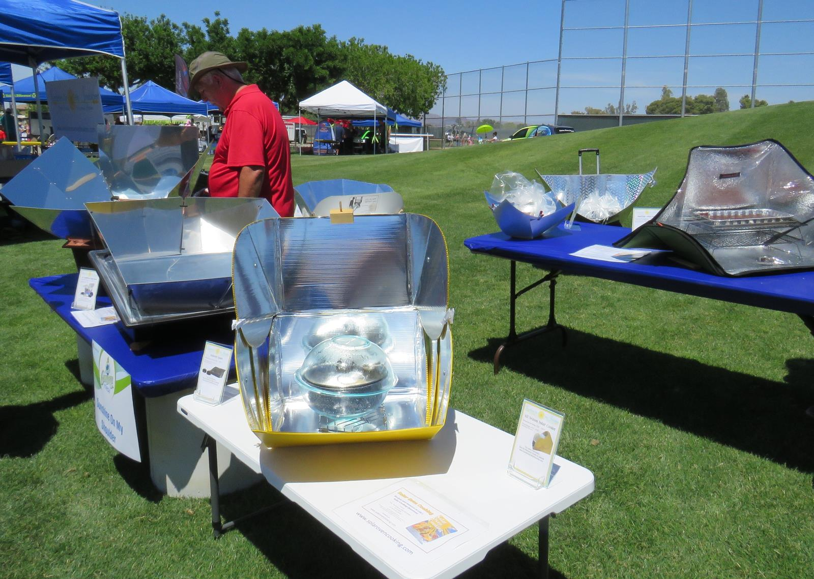 Solar cooking demonstration
